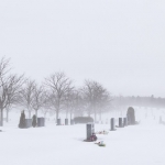 Winter fog over graves - Steven Kennard 2013