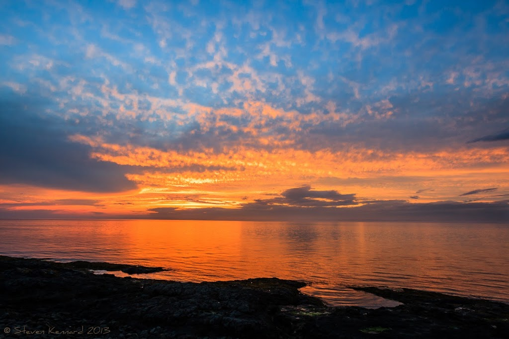 Sunset lighting the clouds over the bay of Fundy - Steven Kennard 2013