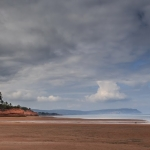 Heavy clouds over Blomidon seen from Kingsport Beach - Steven Kennard 2014