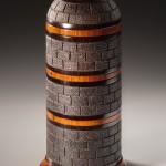 Tower 3 box - African Blackwood, Cocobolo and Thuya burl- Steven Kennard 2015