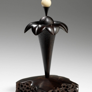 Golfer's Dream #2 - African blackwood, tagua nut - Steven Kennard SOLD