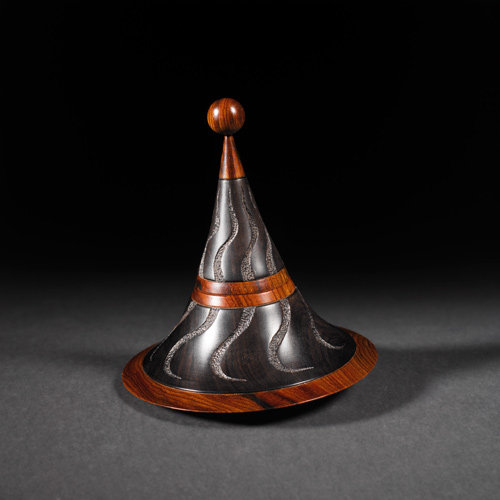 Maypole box African Blackwood, Cocobolo - Sold - Steven Kennard