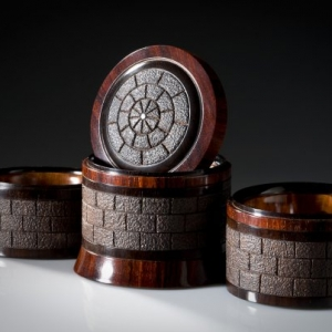 Tower II African Blackwood, Thuya Burl and Cocobolo open - Steven Kennard SOLD