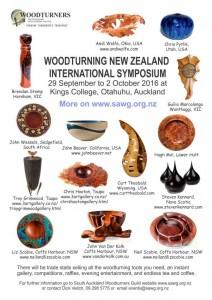 New Zealand Woodturning Poster Symposium 2016