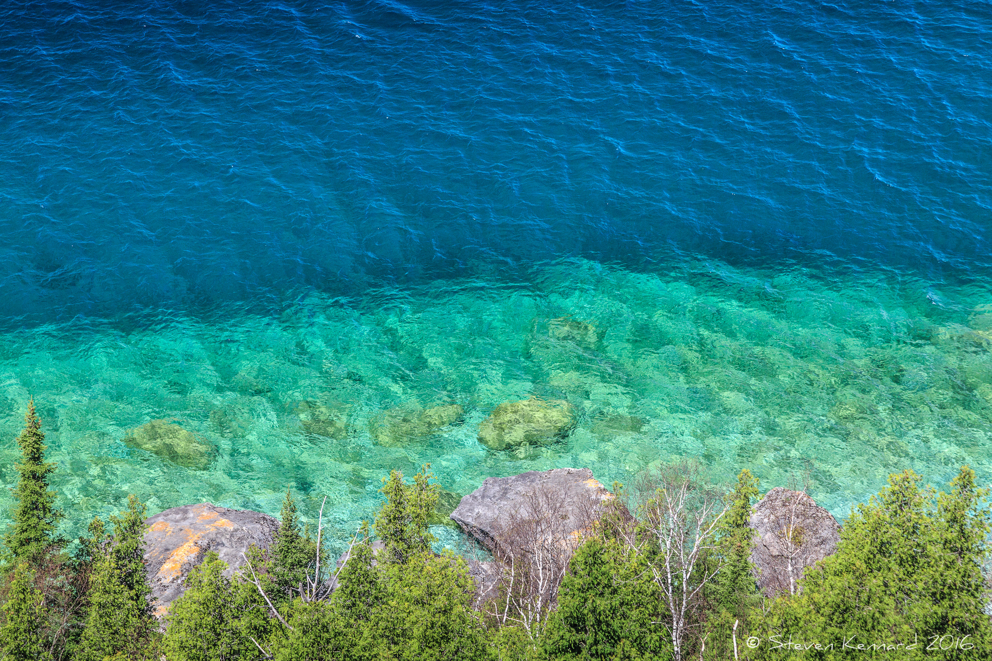 The view of Georgian Bay from the top of Lion's Head – Steven Kennard 2016