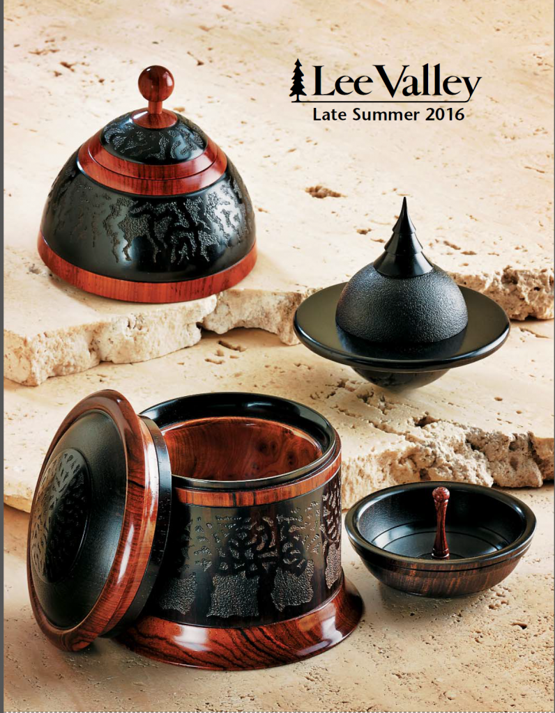 Lee Valley catalogue late summer 2016 - featuring 3 of my boxes