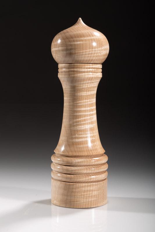 "Maple pepper grinder 111M 8""  Steven Kennard 2018"