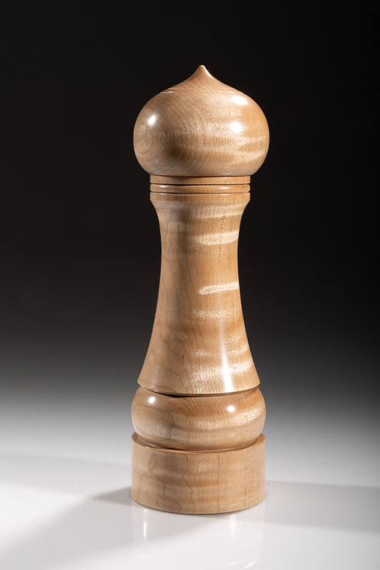 "Maple pepper grinder 114M 8""  Steven Kennard 2018"