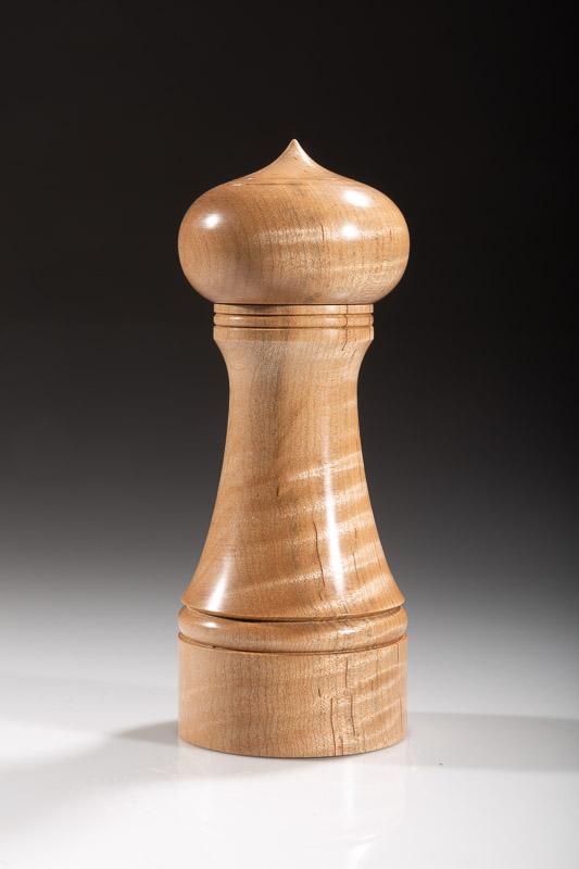 "Maple pepper grinder 121M 6""  Steven Kennard 2018"