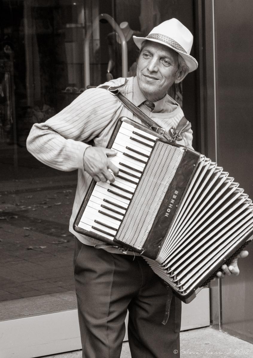 Accordion Street Musician, Karlsruhe, Germany - Steven Kennard 2012