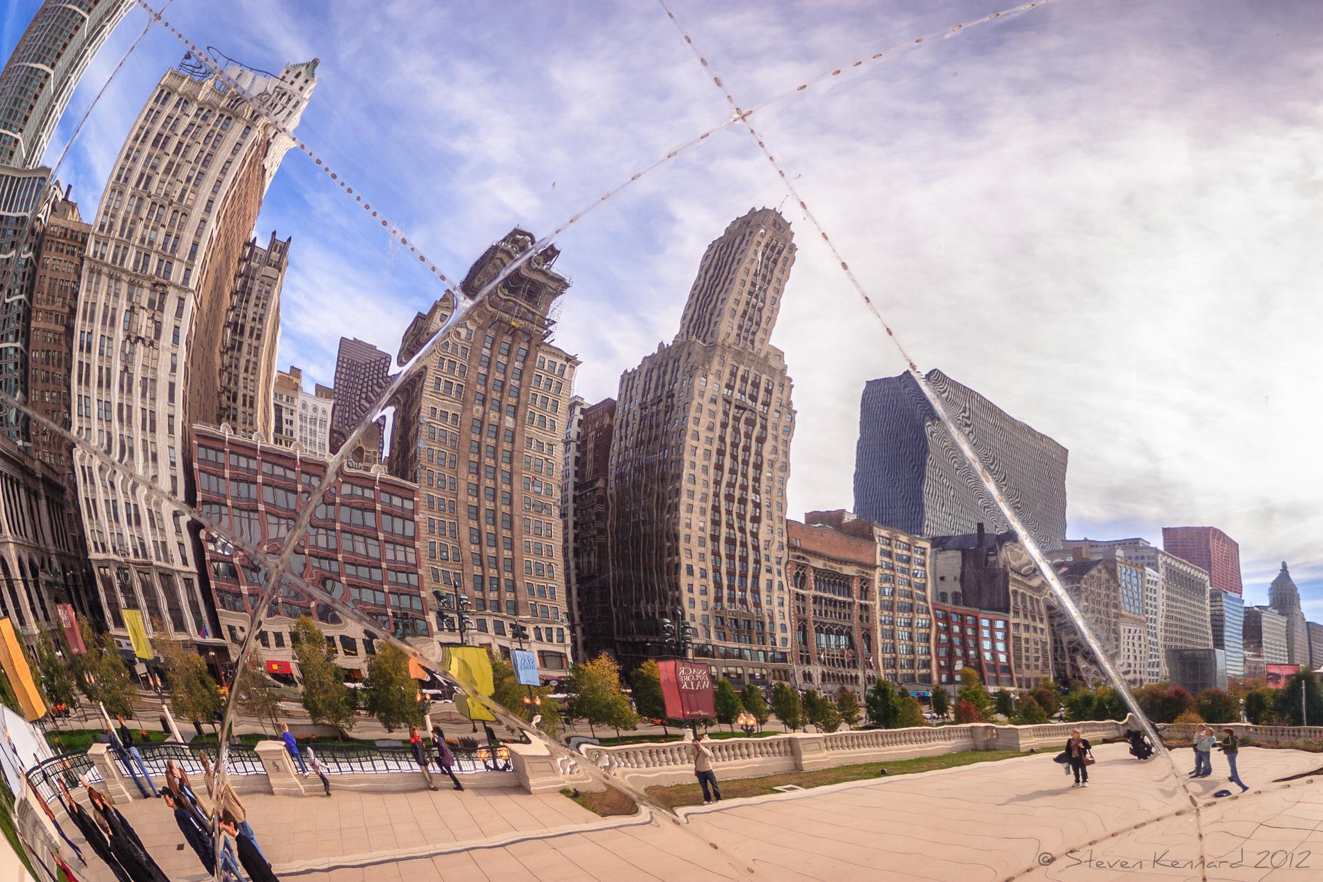 Chicago seen through the bean - Steven Kennard 2012