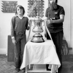 Tristan Glover and Paddy O'Byrne with the FA cup, 1978 - Steven Kennard 2012