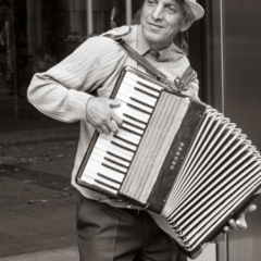 Accordion Street Musician, Karlsruhe, Germany - Steven Kennard 2012