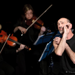 "Cliff LeJeune and the Blue String Quartet - performing ""The Songs of Leonard Cohen"" - Steven Kennard 2012"